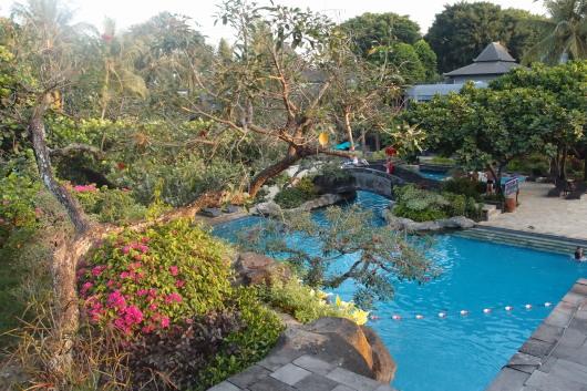 庭園のプールが素敵でした